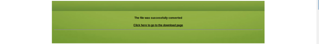 Step 4 Converted file